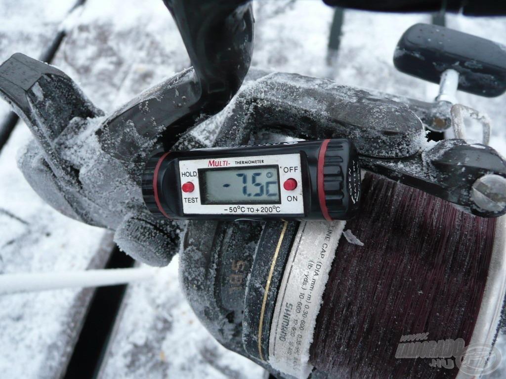 A levegő -7,5 Celsius-fokos volt, ez már tényleg tél a javából!