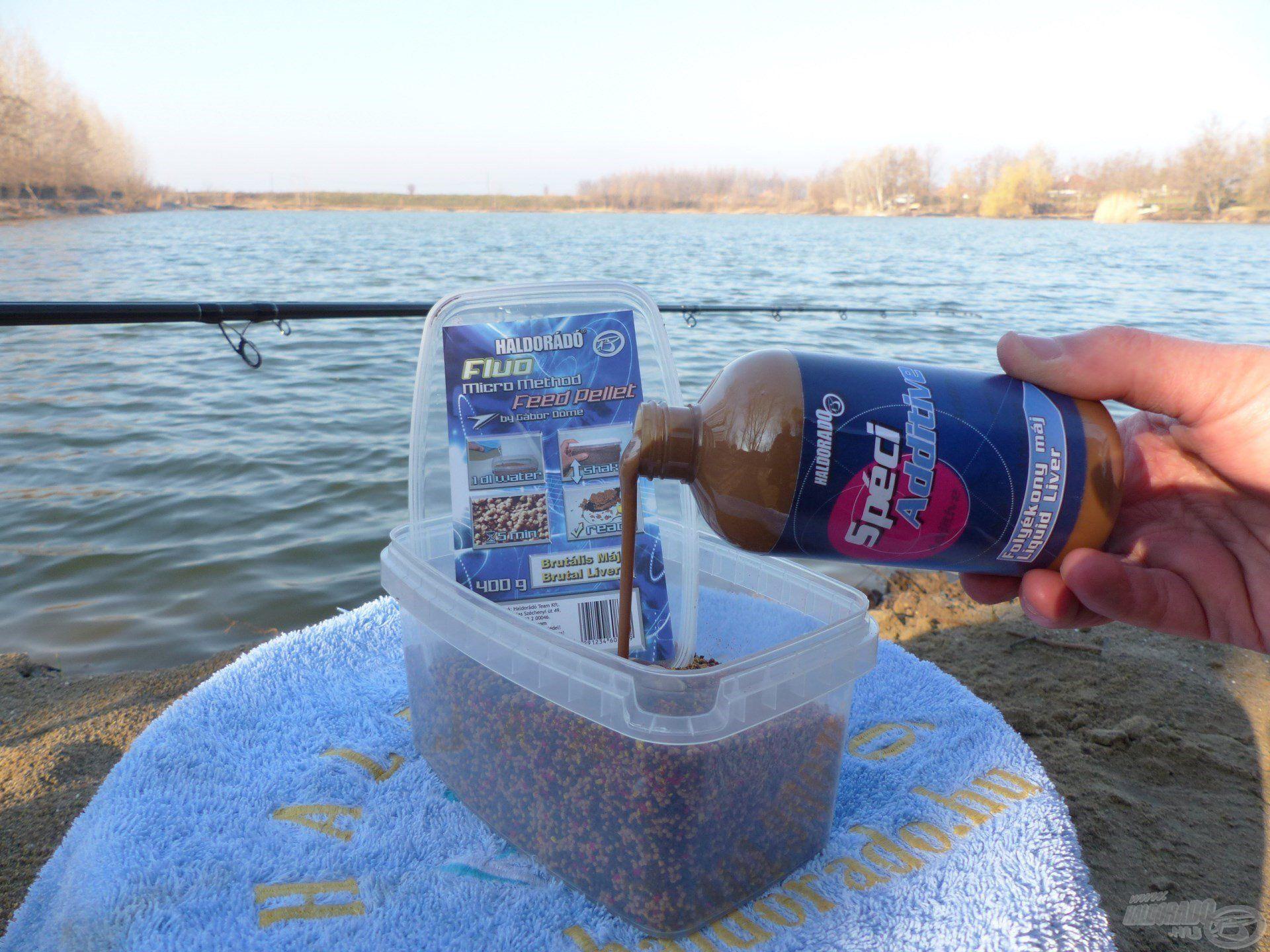 Több etetőanyagot is próbára tettem, és a FMMFP Brutális Máj a hozzá illő adalékkal bizonyult a legjobbnak a jéghideg vízben