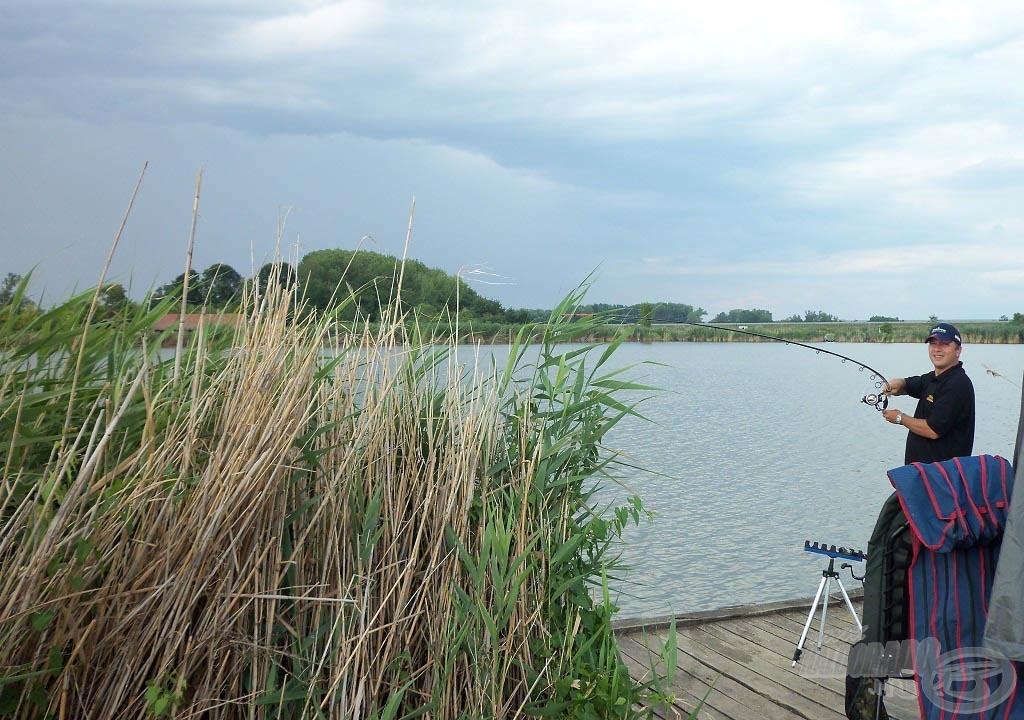 Az eső élénkebbé tette a halakat, felvették a nagyobb csalikat is