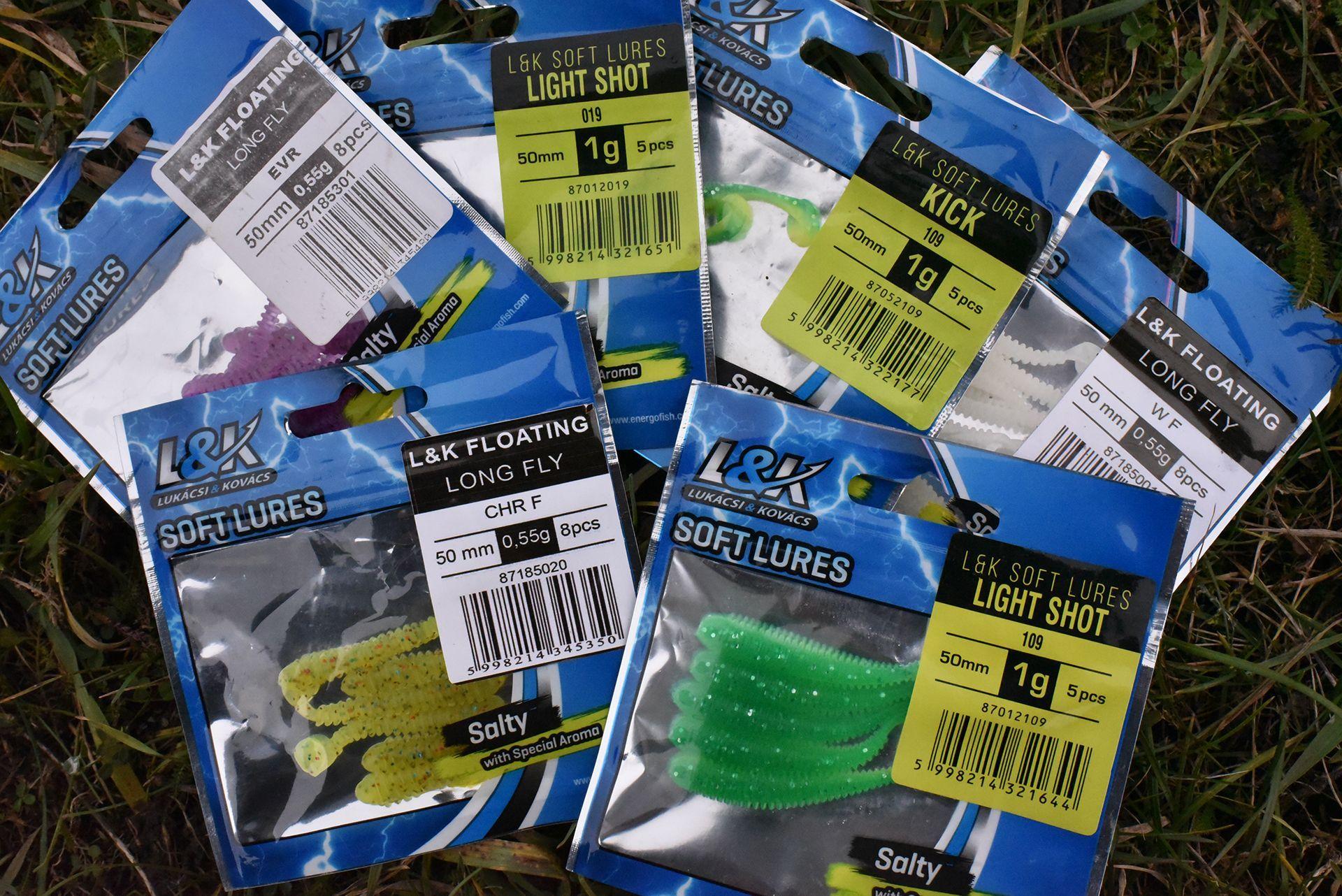Az L&K plasztik csalik apróbb változatai, melyek tökéletesek a feladatra