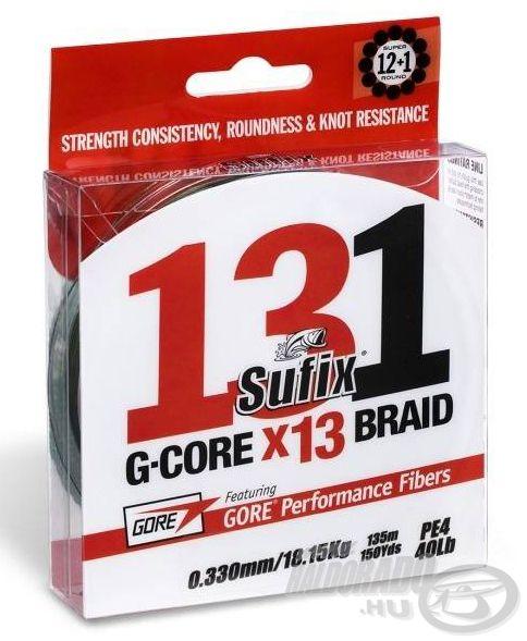 A Sufix 131 szakítószilárdság, valamint méretpontosság tekintetében a legmegbízhatóbb fonott zsinórok között szerepel a piacon