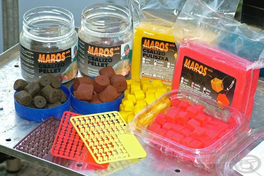 A Maros Mix csali stopper segítségével a fúrt pelleteket és puliszkákat is tökéletesen rögzíthetjük a hajszálelőkén