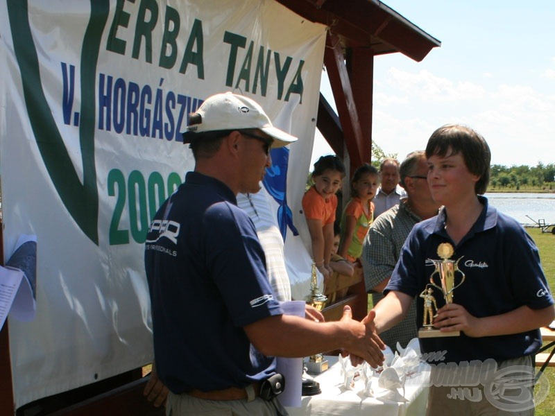 Szegedi Levente, az ifjúsági versenyző is díjazásban részesült