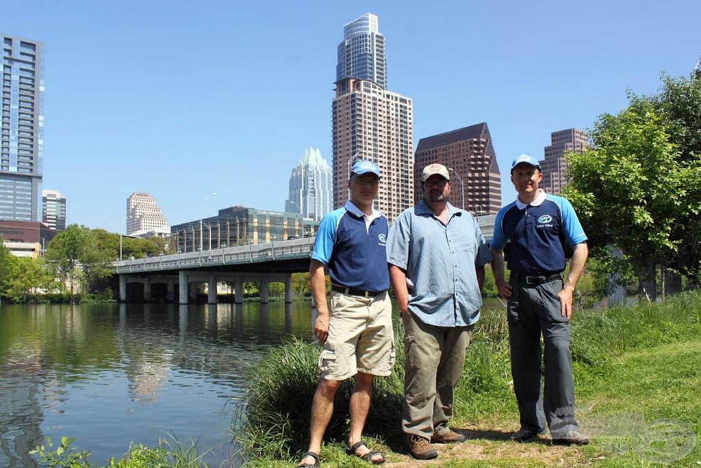 Meghívónk, Tony Cartlidge (a képen középen) a US Carp Pro magazin főszerkesztője segített nekünk a Colorado folyót és annak vízrendszerét megismerni