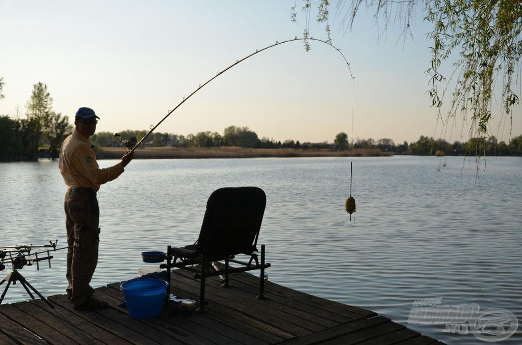 A Spro Big River Pellet feederrel akár a 150 grammot meghaladó össztömegű végszerelék is bevethető 70-80 méterre!