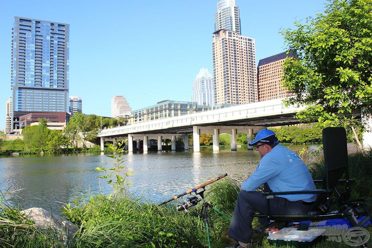Első alkalommal Austin belvárosában próbáltunk Buffalo Carpot horogra csalni…