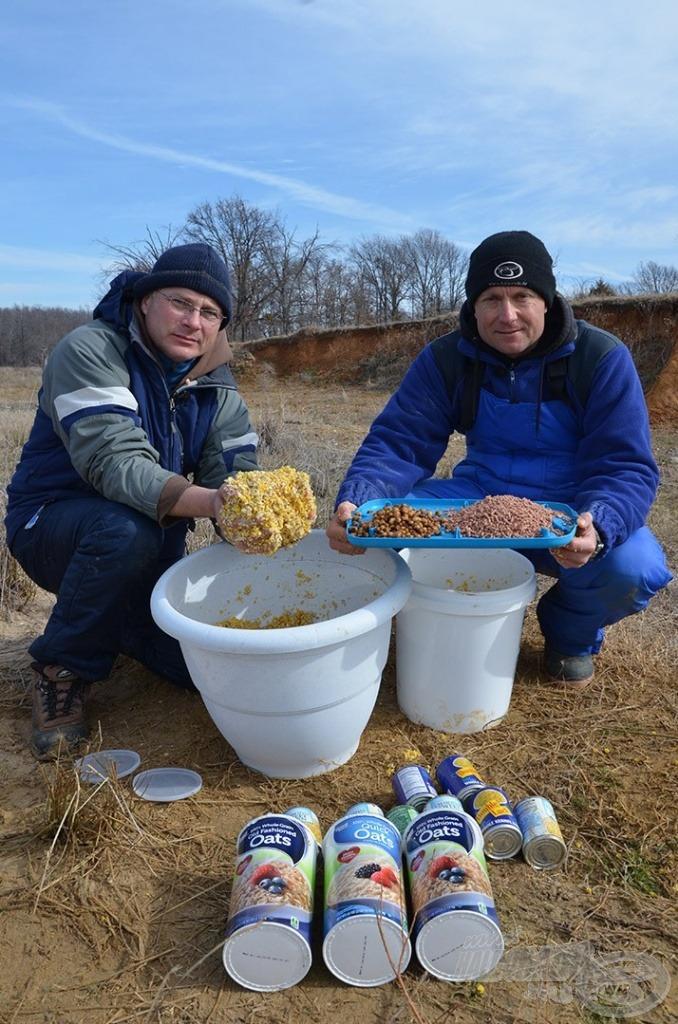 A Buffalo Carp csalogatóanyagok emberi fogyasztásra alkalmas élelmiszerekből álltak össze