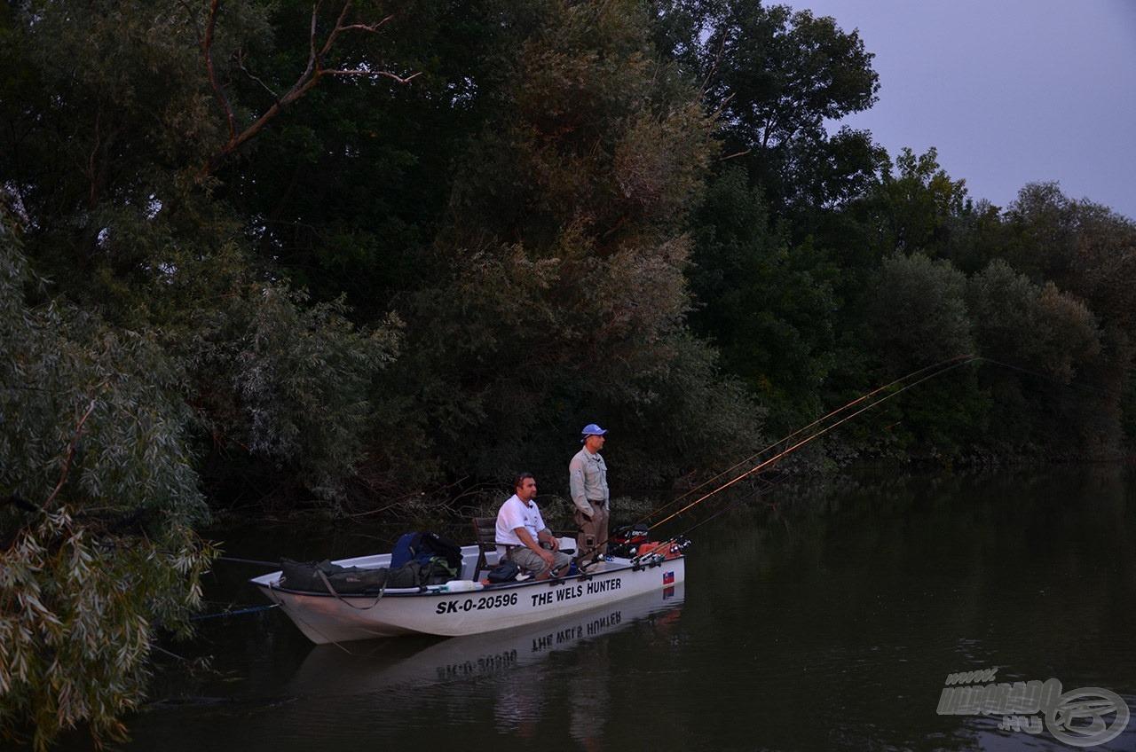 Kihasználtunk minden percet, de az éjszaka közeledtével a halak aktivitása is alábbhagyott