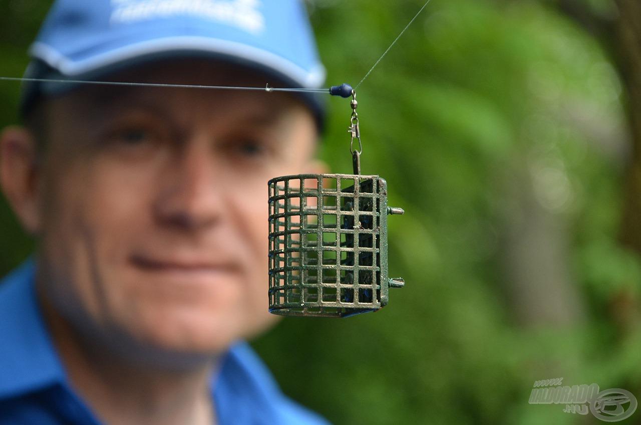 A 65 grammos Haldorádó Barbel River feederkosár elegendőnek bizonyult