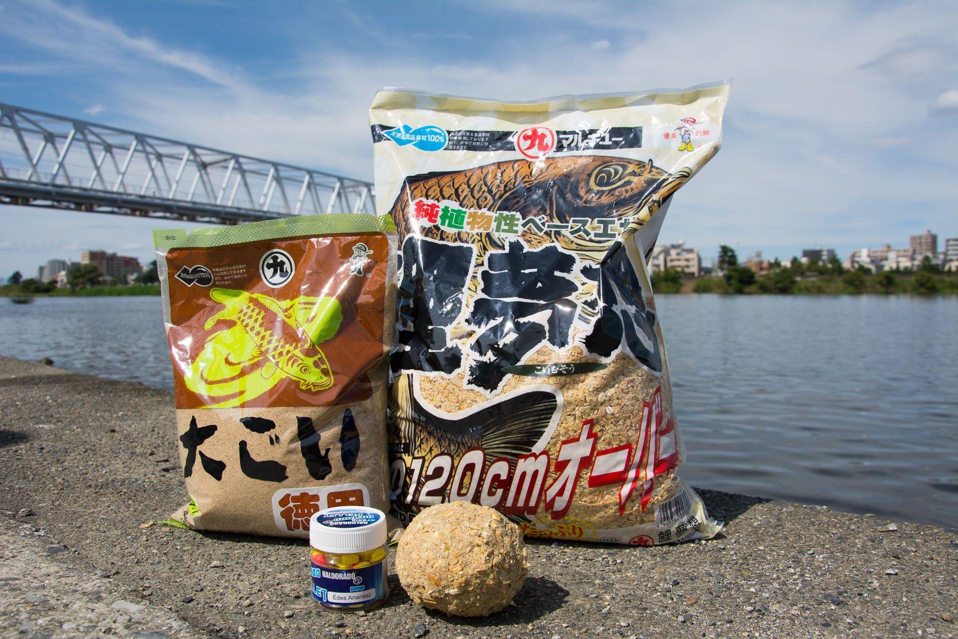 Ezek a japán etetőanyagok bizonyultak a leghatékonyabbnak, a nyerő csali azonban sajátom