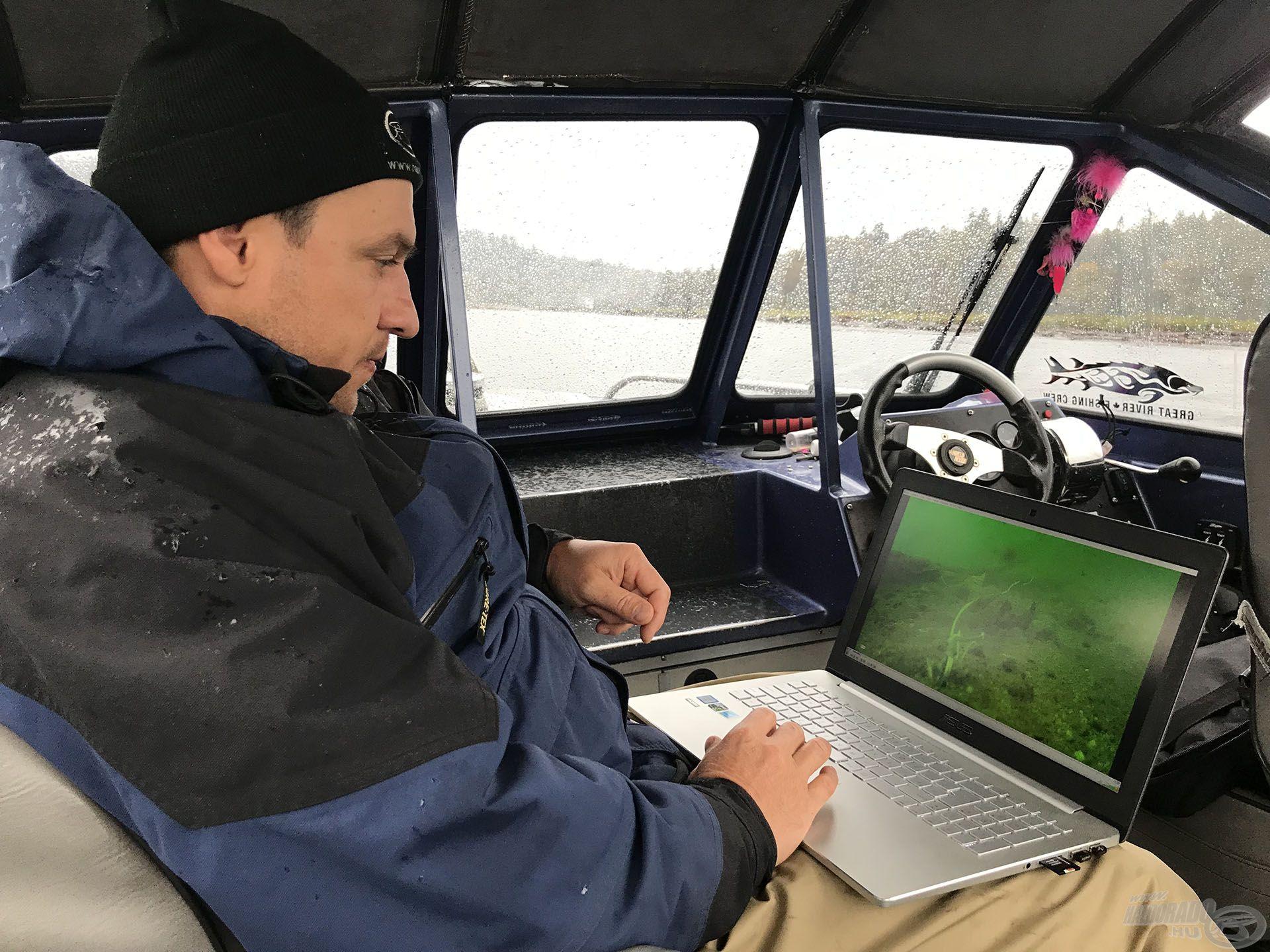 Szenzációs felvételeket sikerült készítenünk, melyet izgalmunkban már a hajón megnéztünk