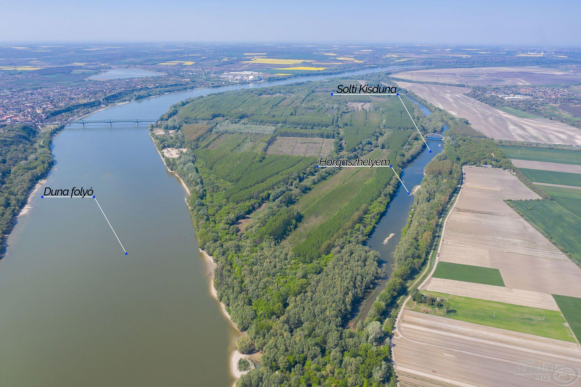 A Solti Kis-Duna Bács-Kiskun megyében, a Duna folyam mellett található. Kellően magas vízálláskor élő összeköttetésbe kerül a nagy folyóval