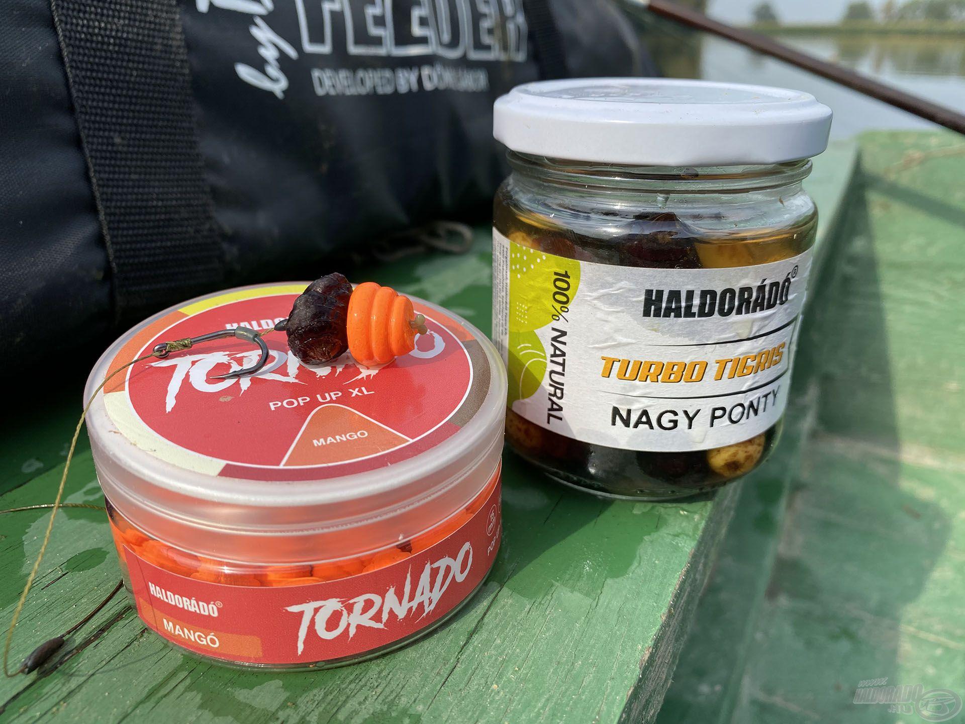Az (új) TORNADO Pop UP XL Mangó + TURBO TIGRIS Nagy Ponty fekete változata együtt rendkívül fogósnak bizonyult