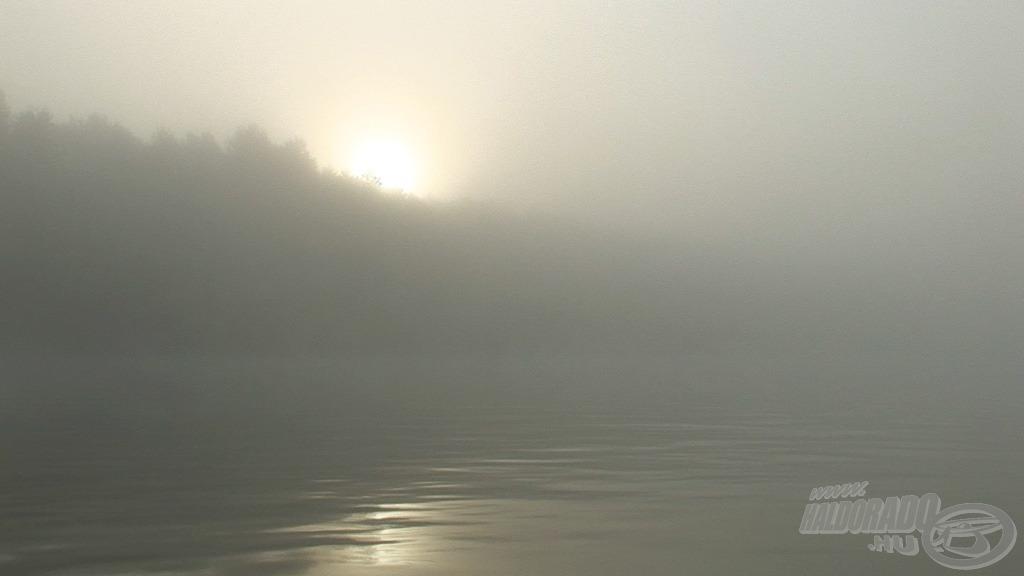 A késő őszi időszakra jellemző, hogy nagyon sűrű köd telepedik a Dunára