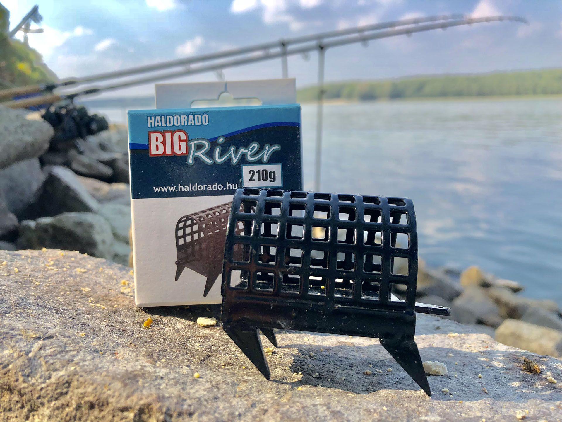 Természetesen kínálunk 85-300 grammig speciális, kapaszkodó karmokkal ellátott BIG RIVER folyóvízi kosarat is
