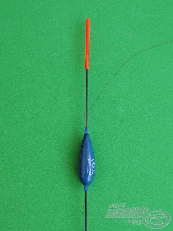 Dévéres úszó összeállítás kisméretű csalikhoz