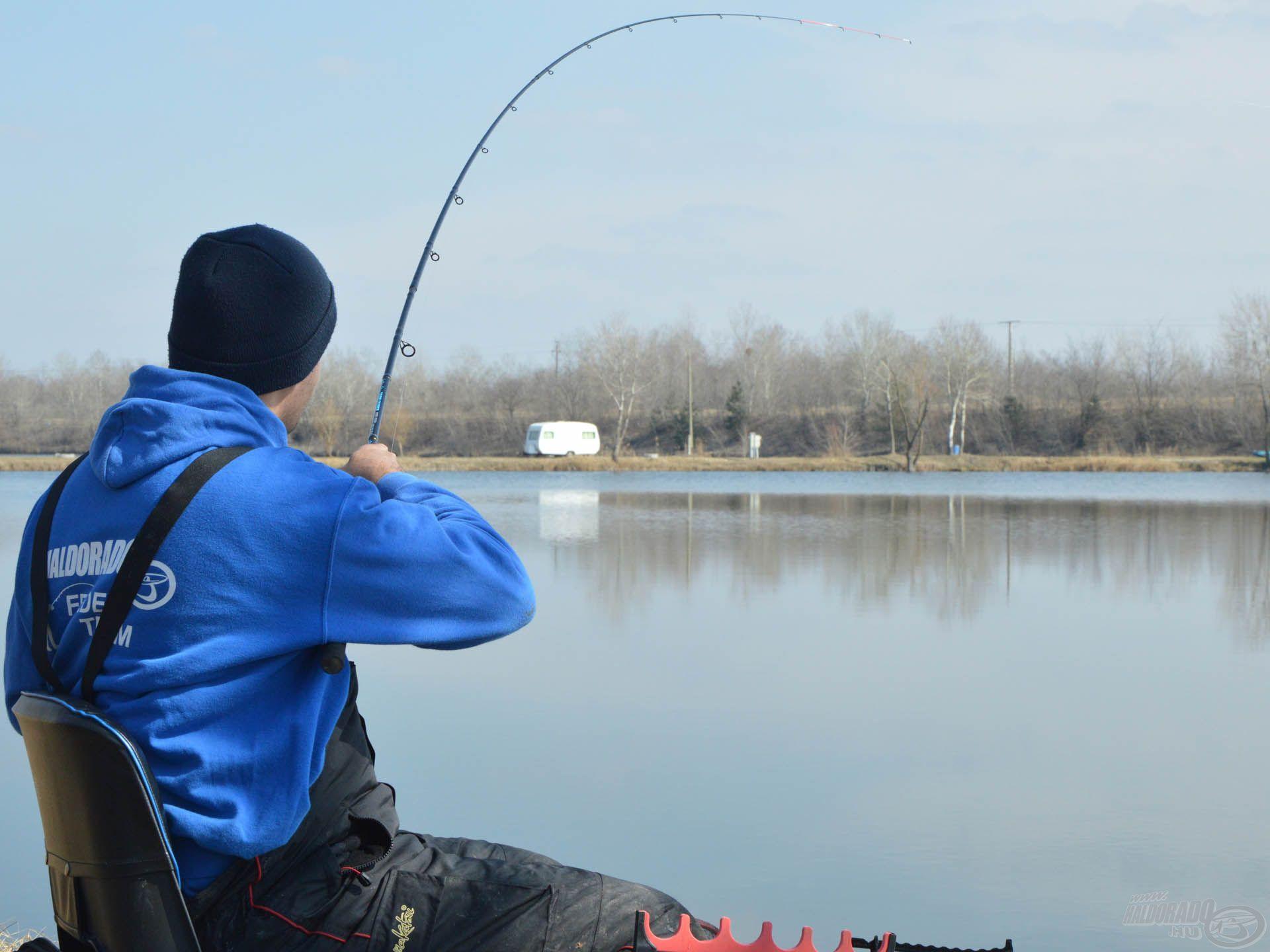 A fonott előkezsinór ereje a finom horgászatokhoz is biztonságot kölcsönöz