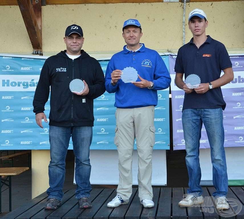 A 2013. évi Feeder ranglista első három helyezettje: 1. Döme Gábor, 2. Sivák Mátyás, 3. Siroki Dávid