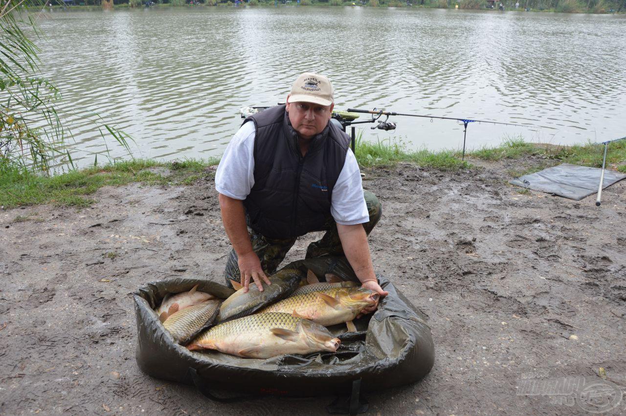 Horváth Csaba fogta ez eddigi legtöbb halat, 31 kg felett jár