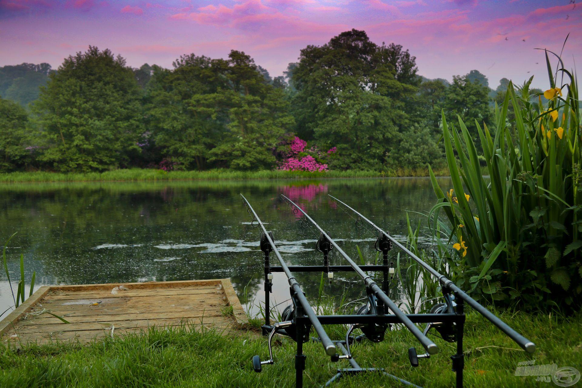 Csodás környezetben horgászhattunk