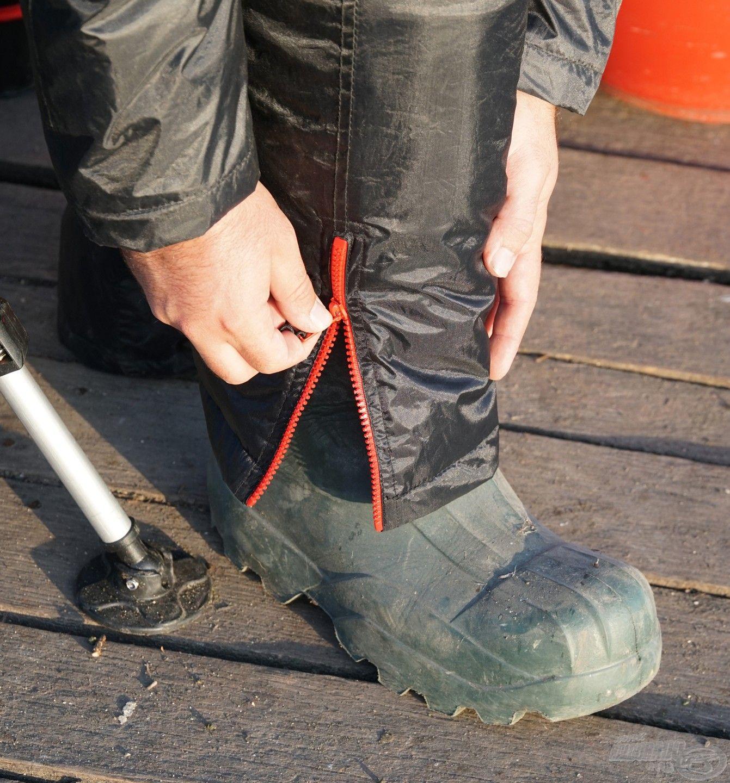 A csizmára szorosan ráhúzható a thermo alsó, így nagyobb eső esetén is szárazok maradhatunk