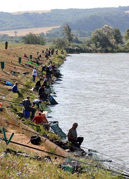 A gáti szakaszt is a versenyhorgászok népesítették be