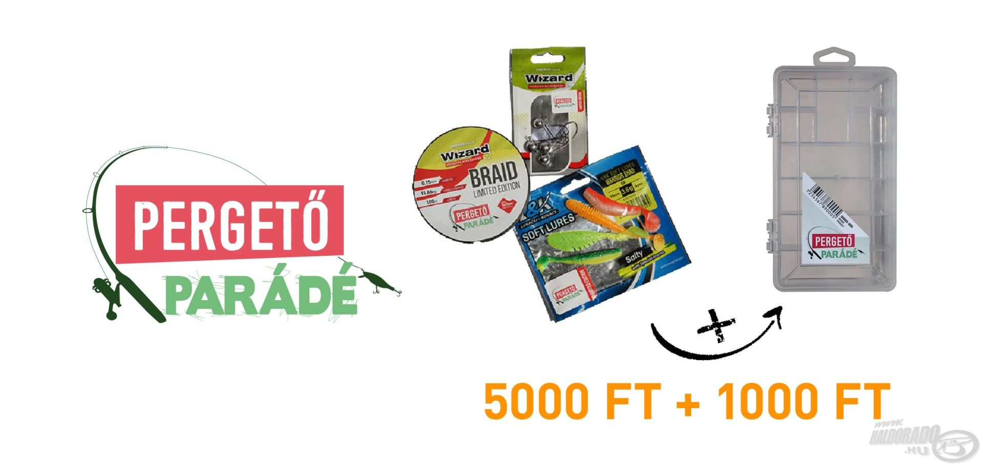 A Pergető Parádé ajándéka egy 5000 Ft értékű Wizzard és L&K csomag + az első 5000 látogató Kamasaki jubileumi dobozt is kap, melynek értéke 1000 Ft