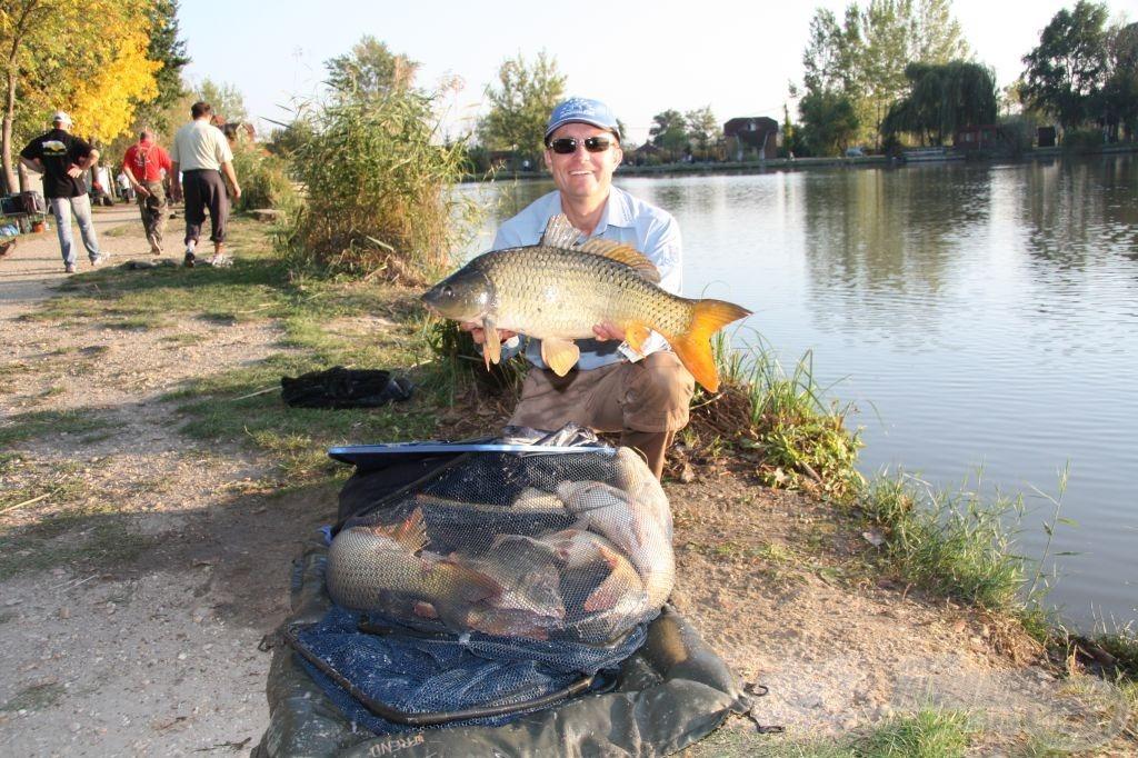 Döme Gábor délután fogott közel 70 kg halával