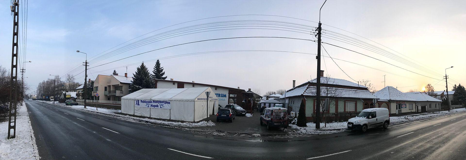 Noss a tegnapi havazásnak szerencsére már csak az utak mentén van nyoma