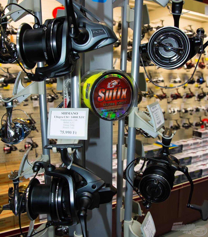 A Shimano nyeletőfékes orsóknál a feltüntetett árból lejövő további kedvezmény mellett, egy nagy tekercs zsinór is ajándék