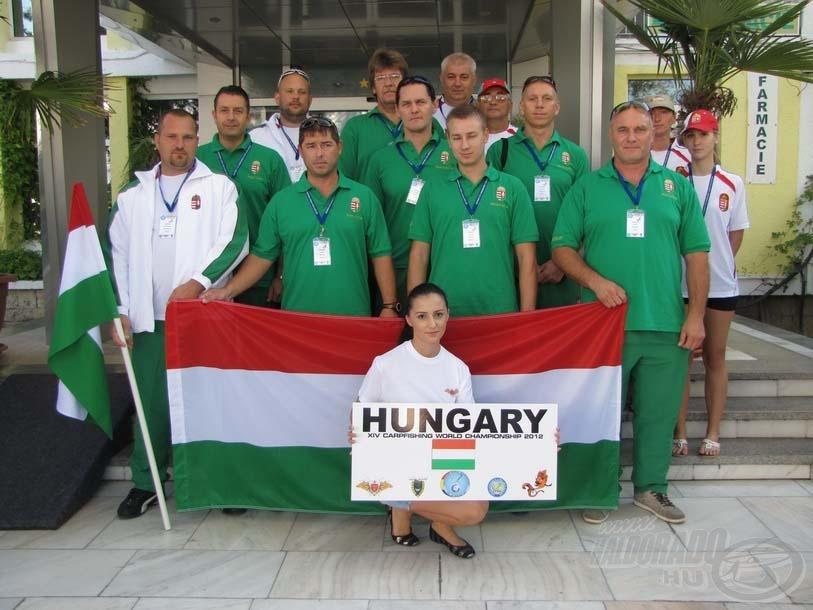Egységben a 2012-es magyar pontyfogó válogatott
