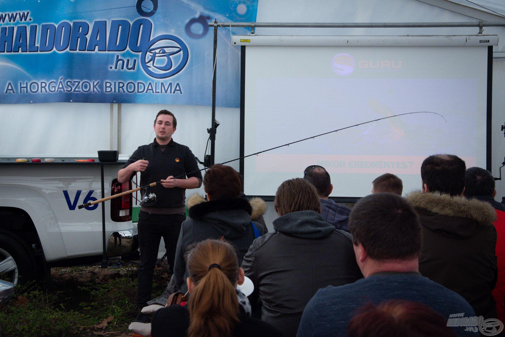 Lőrinczi Levente Magor a bomb fishing technikáról tartott előadást