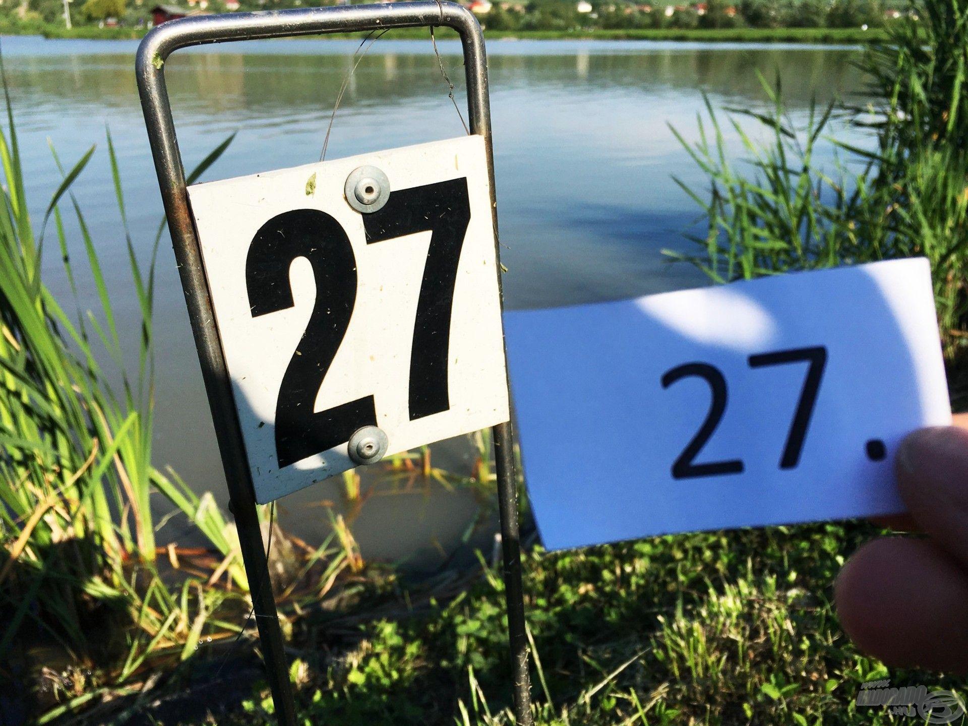 A 27-es hely… Vajon mit tartogat számomra?