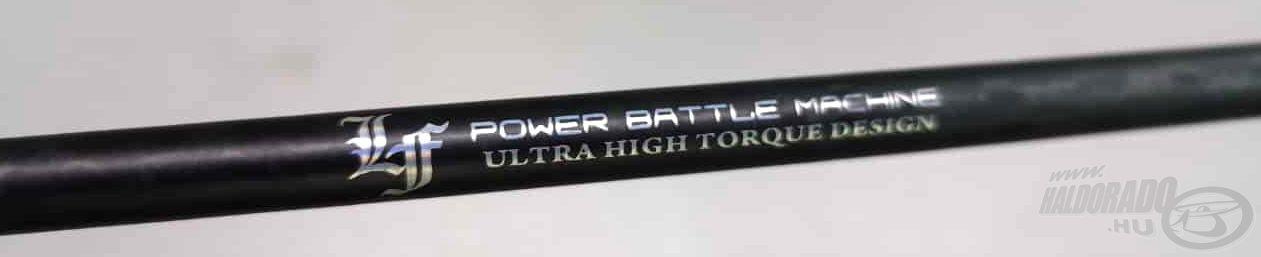Ez a felirat is jól jelzi, hogy igazi erőgép ez a bot