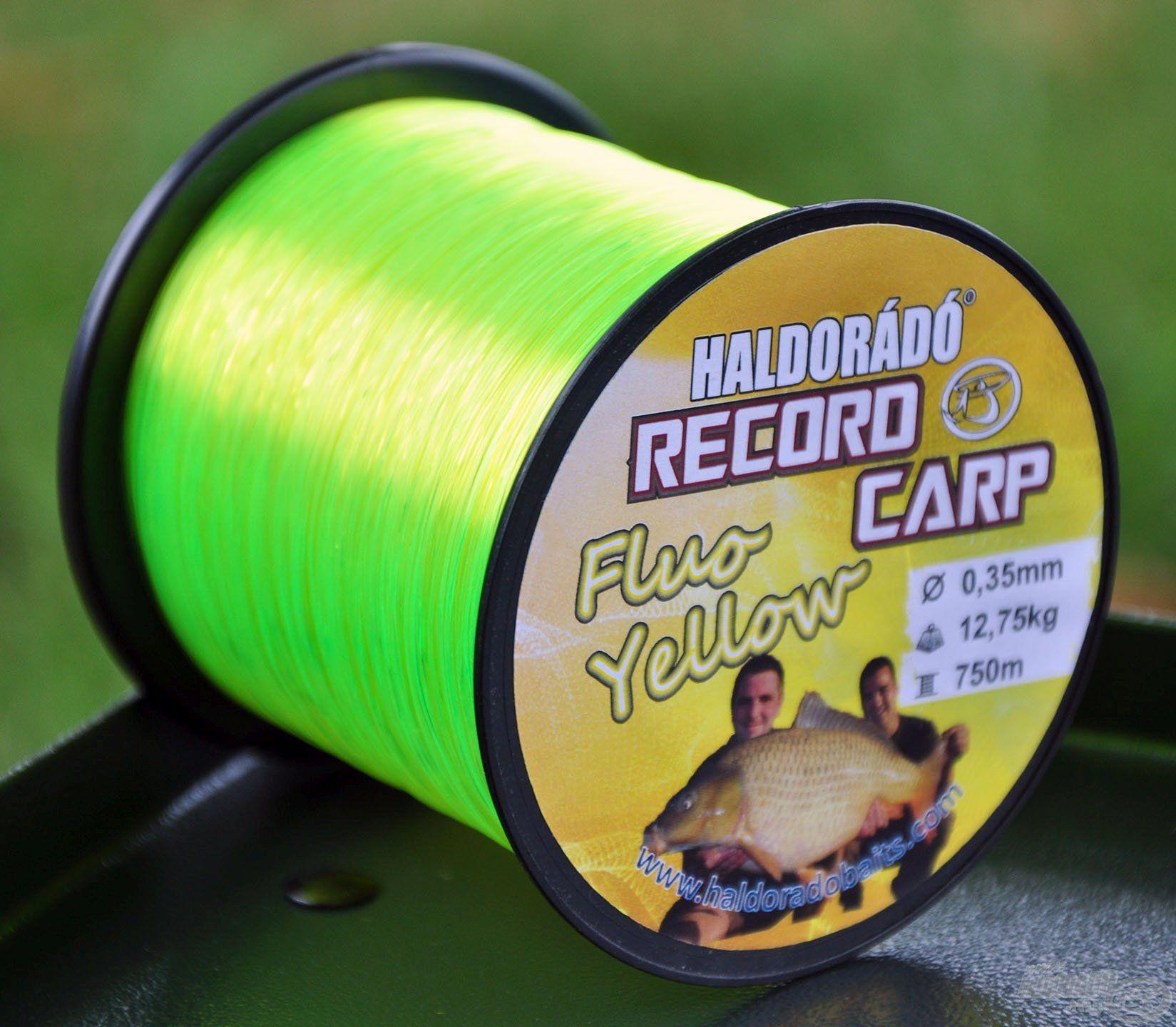 A Haldorádó Record Carp Fluo Yellow zsinór kimondottan a modernkori pontyhorgászat által támasztott igényekhez alakítottuk