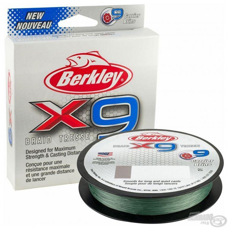 Berkley X9 Braid Low-Vis Green 150 m - 0,10 mm