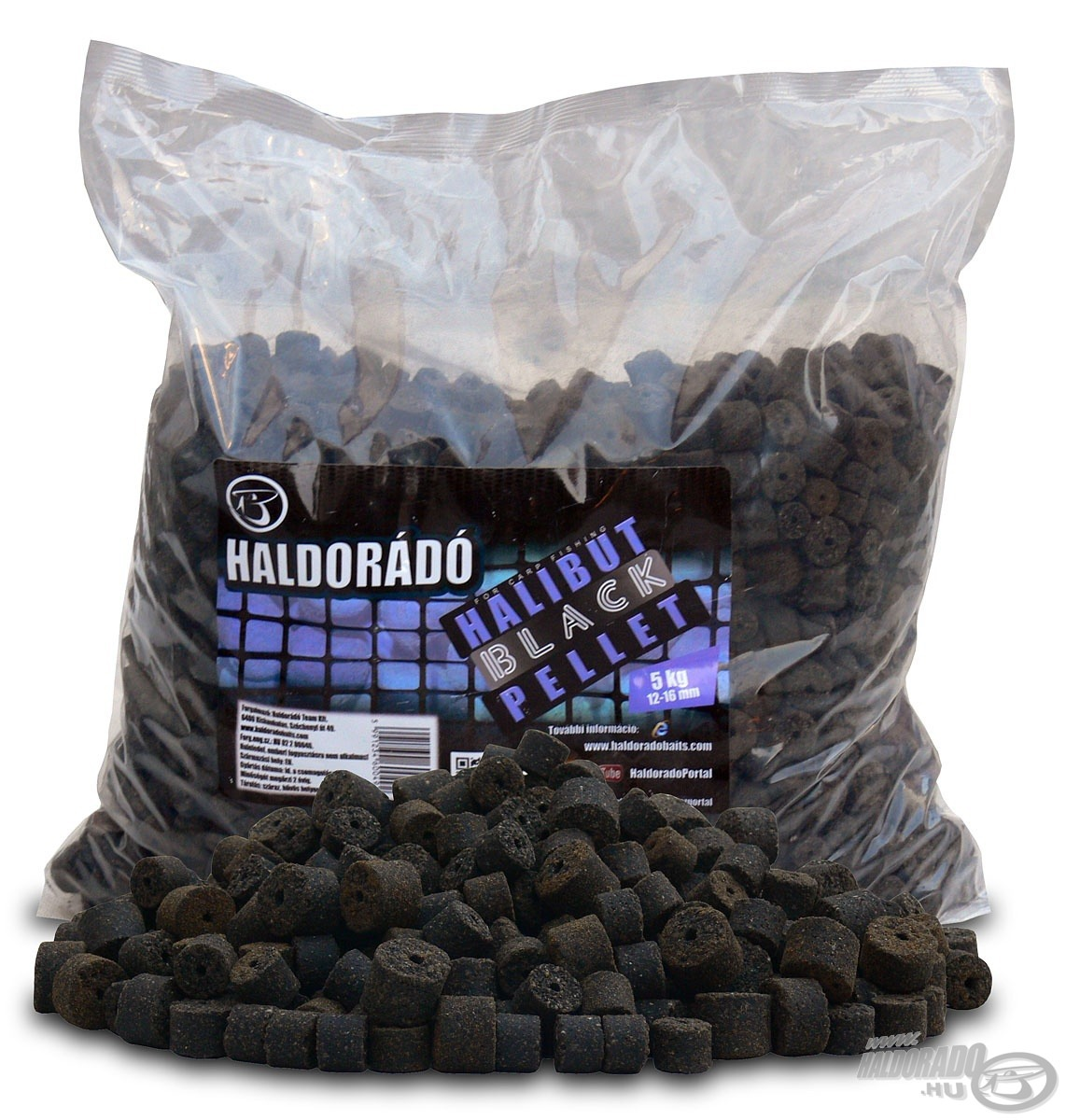HALDOR�D�, |, Black, Halibut, Pellet, 5, kg, /, 12-16, mm 4990Ft