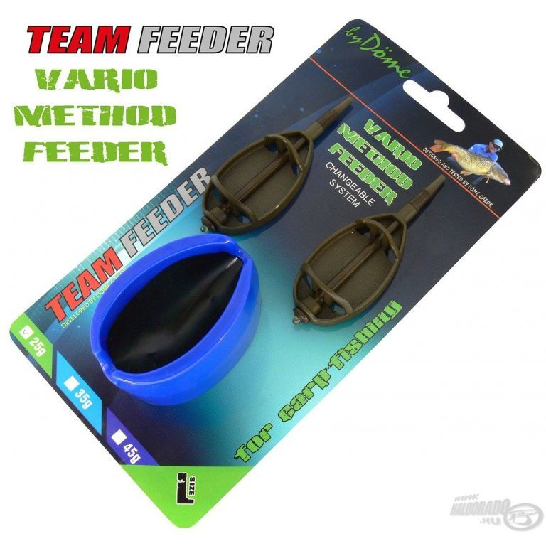 By Döme TEAM FEEDER Vario Method Feeder kosár szett L 25 g