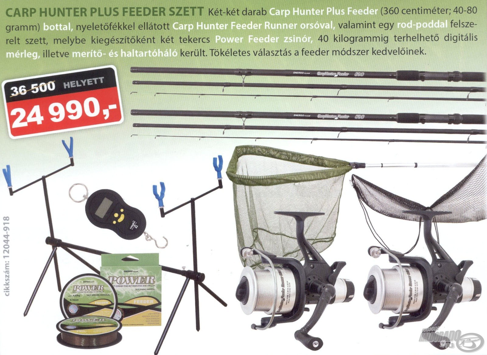ENERGOTEAM, Carp, Hunter, Plus, Feeder, szett, 36500, helyett, 24990Ft
