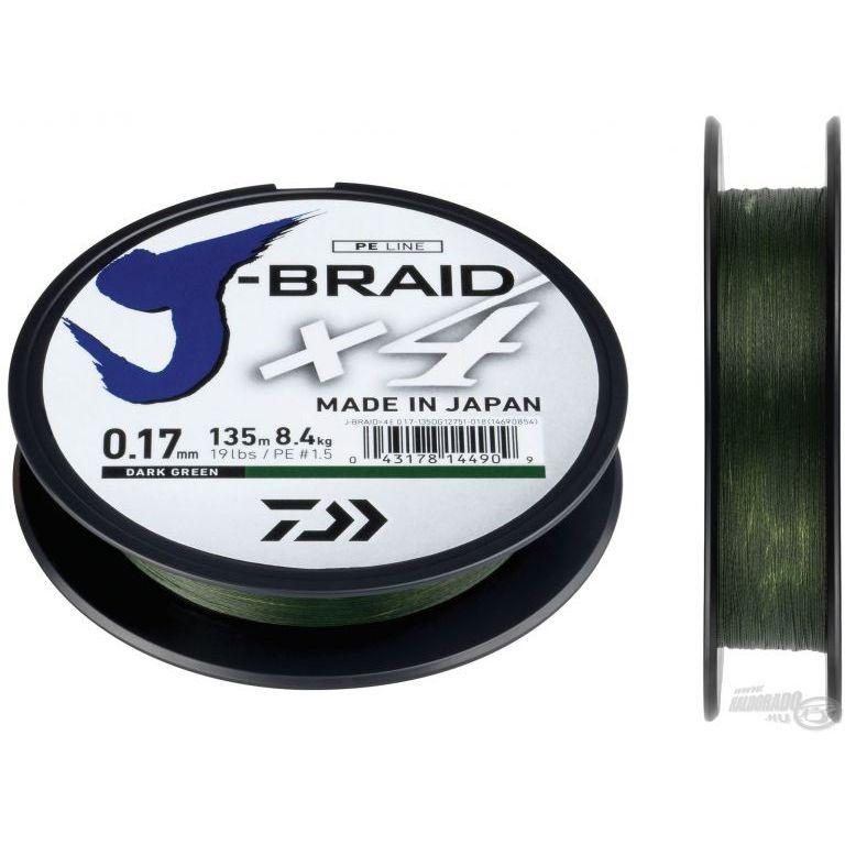 DAIWA J-Braid X4E 0,25 mm 135 m