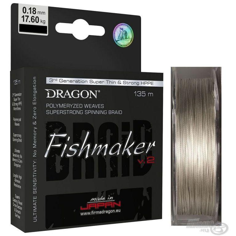 DRAGON Fishmaker V.2 Grey 135 m - 0,18 mm