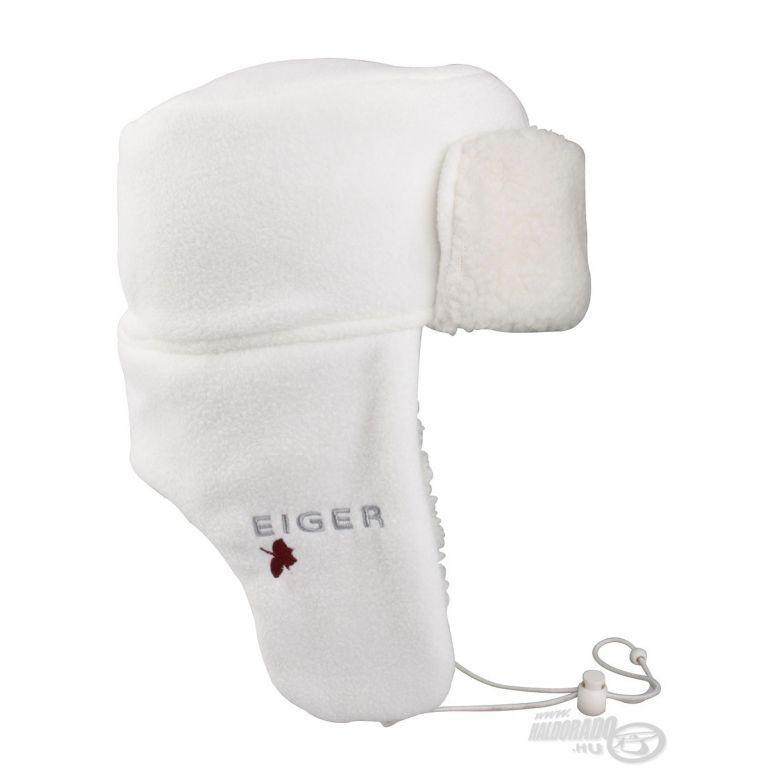 EIGER Fülvédős téli sapka Fehér S/M