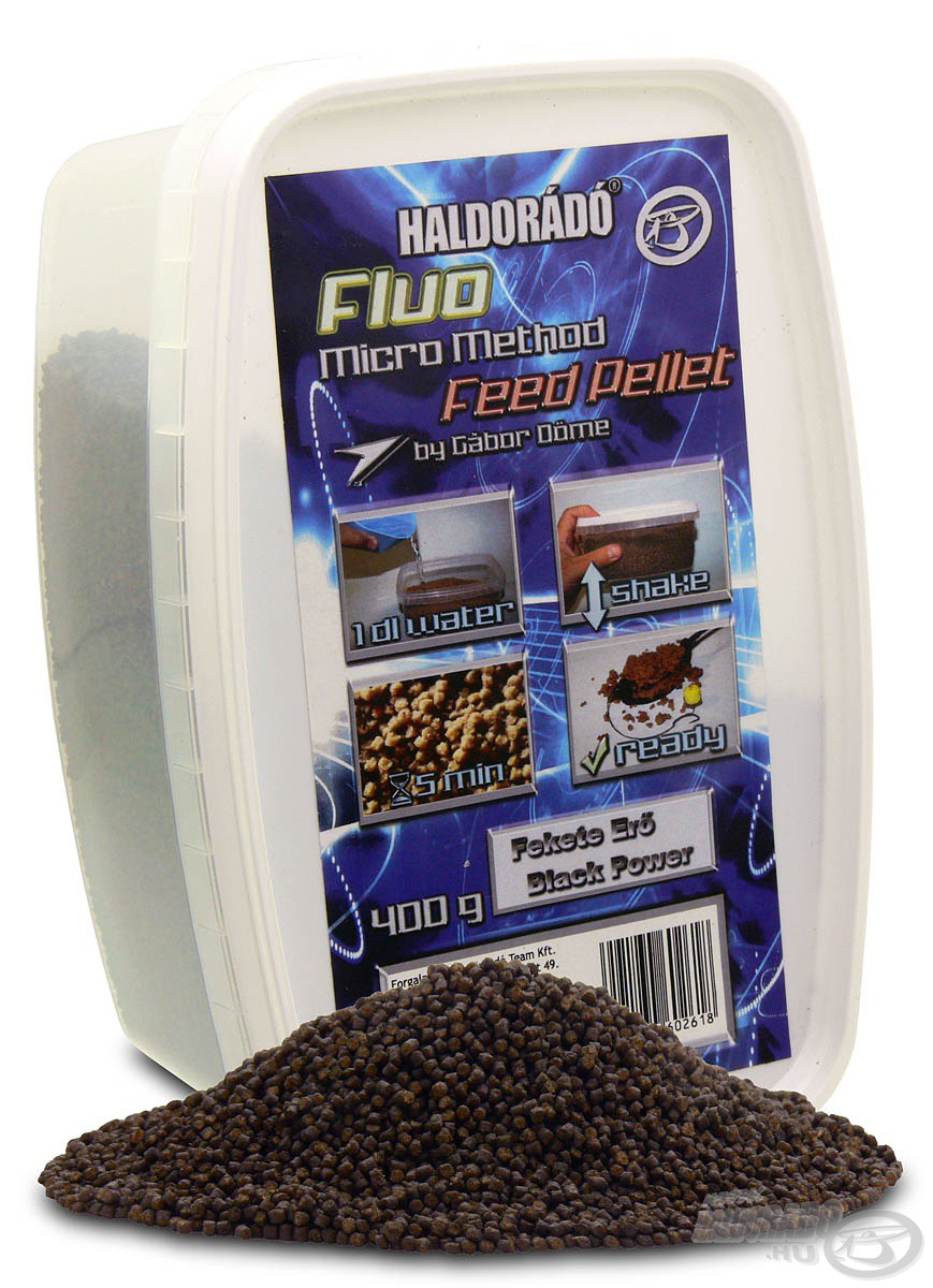 HALDOR�D�, Fluo, Micro, Method, Feed, Pellet, -, Fekete, Er�, 1790Ft
