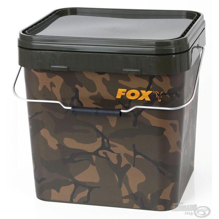 FOX Szögletes vödör terepszínű 17 L