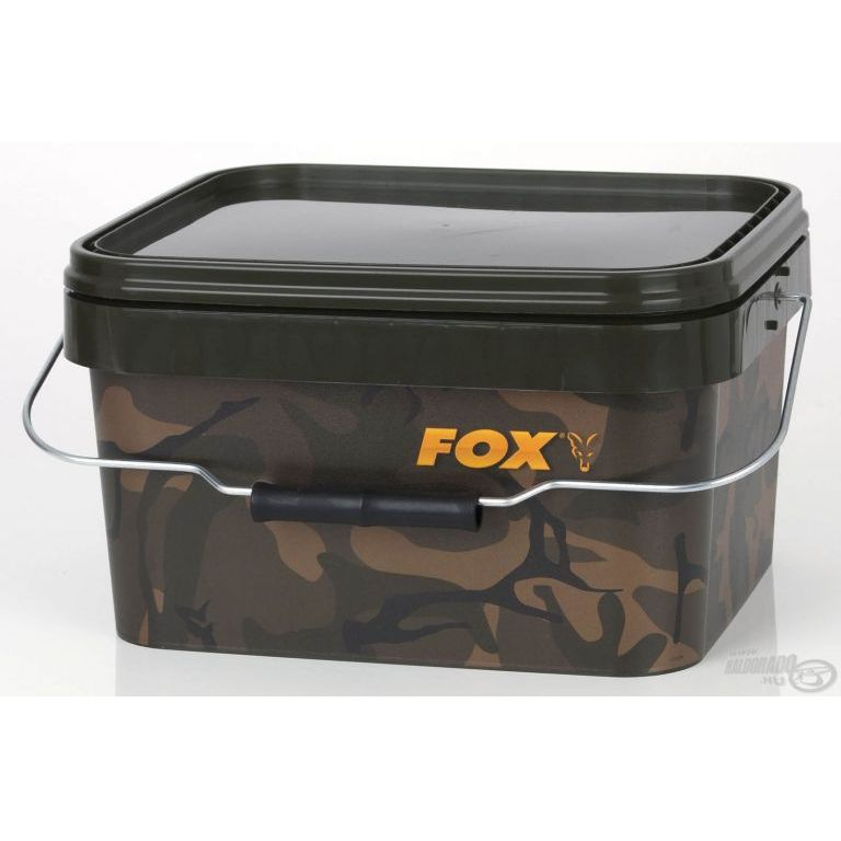 FOX Szögletes vödör terepszínű 5 L