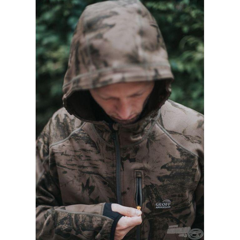 Geoff Anderson Hoody3 kapucnis dzseki BlackLeaf XXL