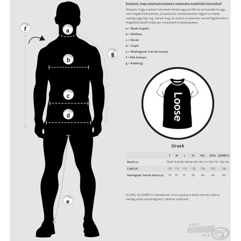Geoff Anderson Urus6 vízálló nadrág Leaf XL