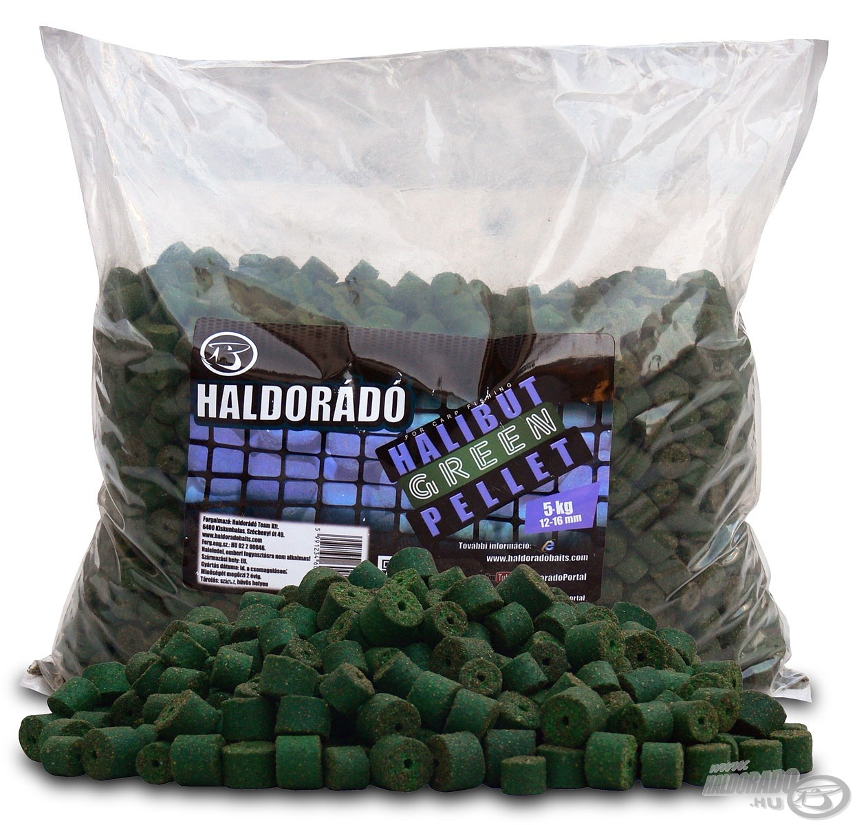HALDOR�D�, Green, Halibut, Pellet, 5, kg 4990Ft