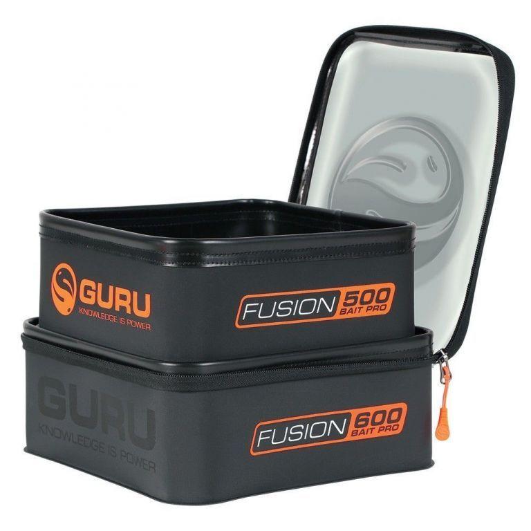 GURU Fusion Bait Pro 600 + 500 - Csalitartó edény fedeles