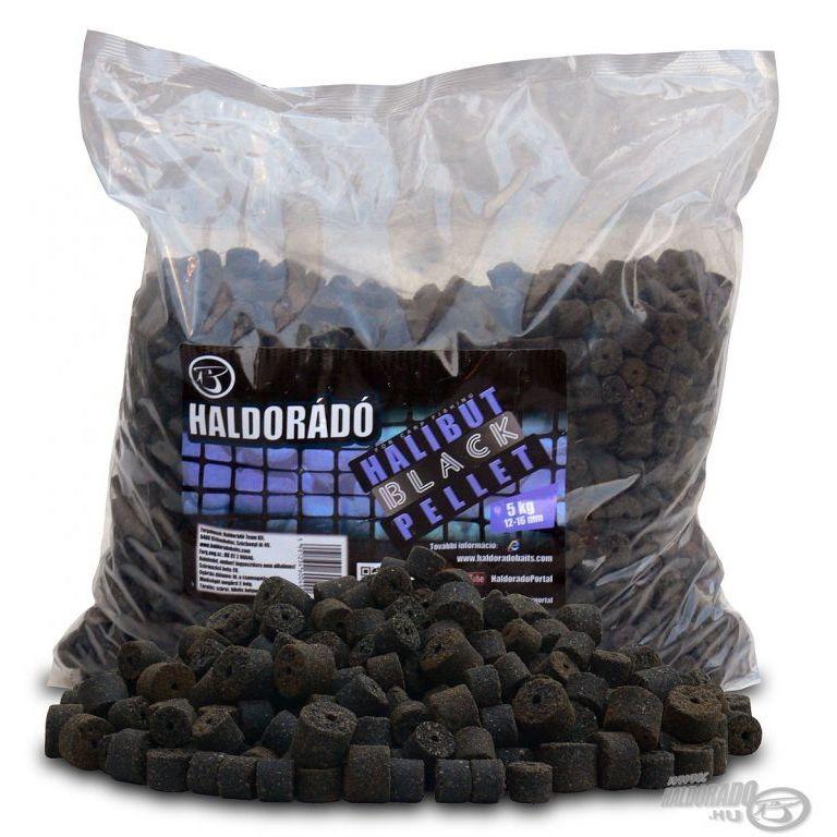 HALDORÁDÓ Black Halibut Pellet 5 kg / 12-16 mm